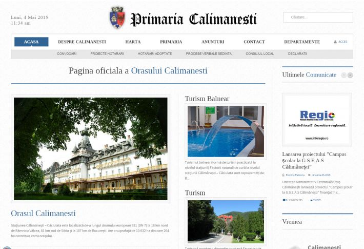 Calimanesti City Hall Official Website